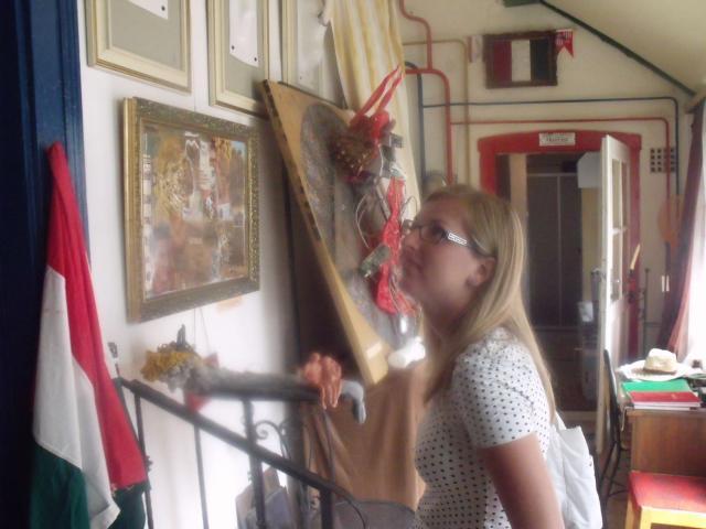 Bubla Éva painter a Művészföldén 2012
