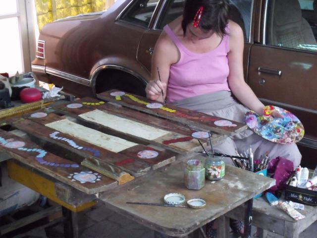 Művészfölde alkotótábor 2012 augusztus Bojtor Verabella-Meditációs asztalka - táblajáték