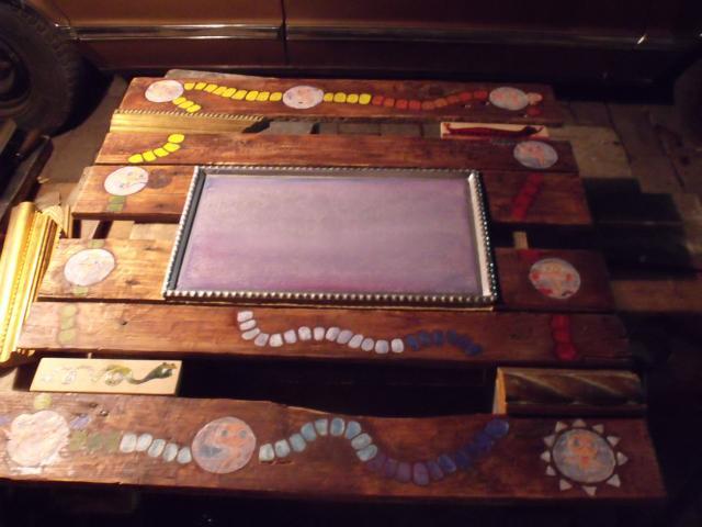 Művészfölde alkotótábor 2012 augusztus-Bojtor Verabella - meditációs asztal