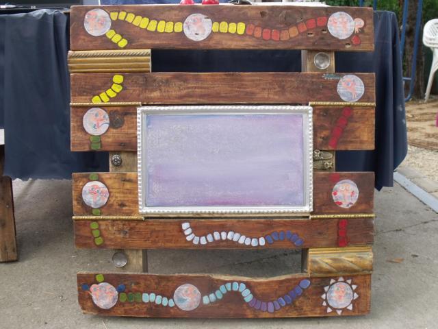 Művészfölde alkotótábor 2012 augusztus-Bojtor Verabella - meditációs asztalka-táblajáték